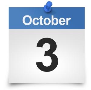 October 3