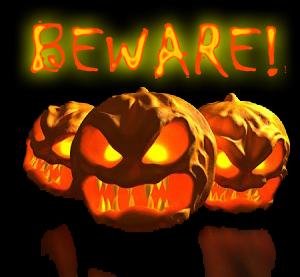 beware pumpkins