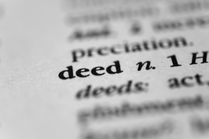 deed - definition