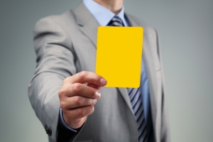 yellow card - suit