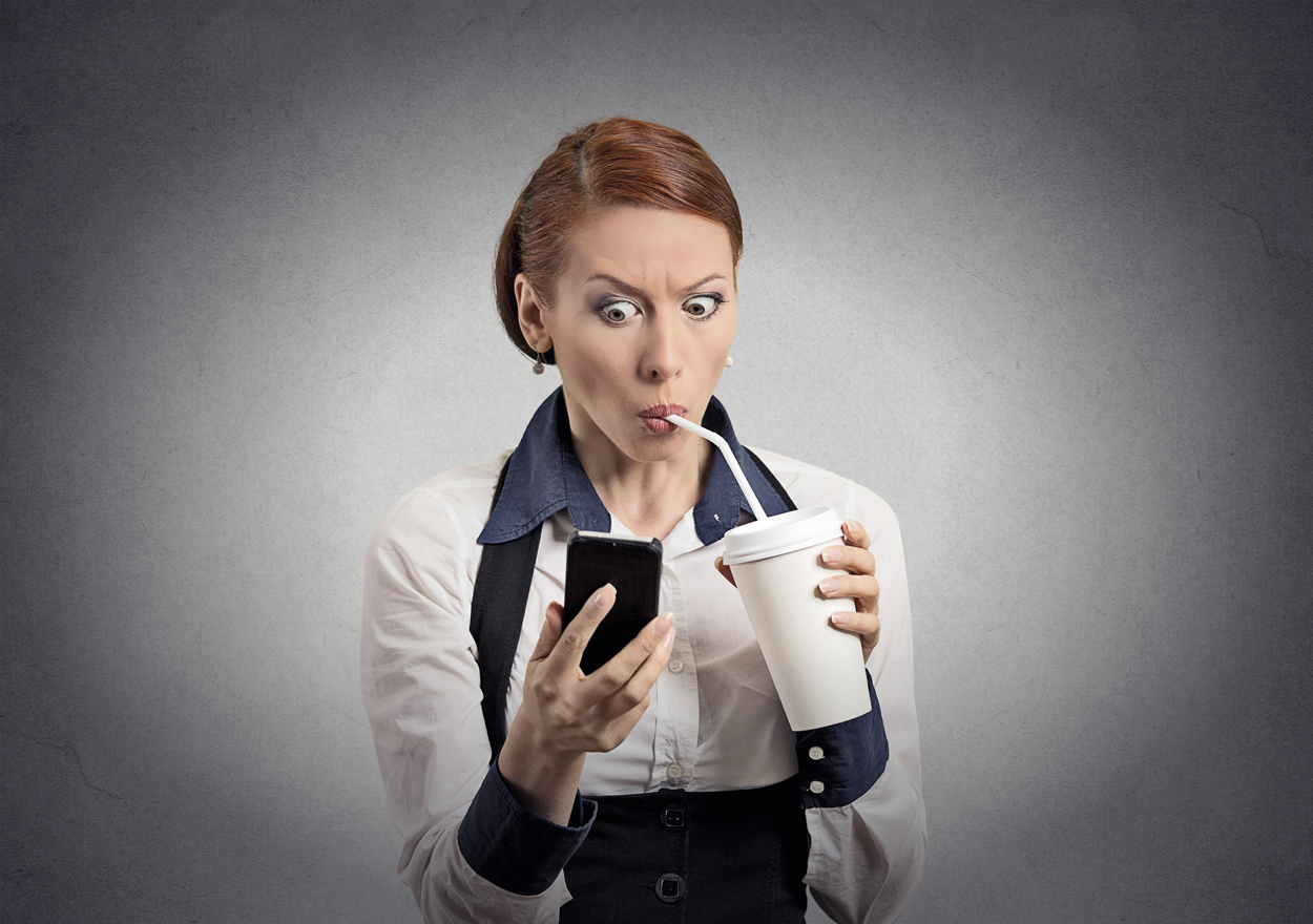 shocked business woman text smaller