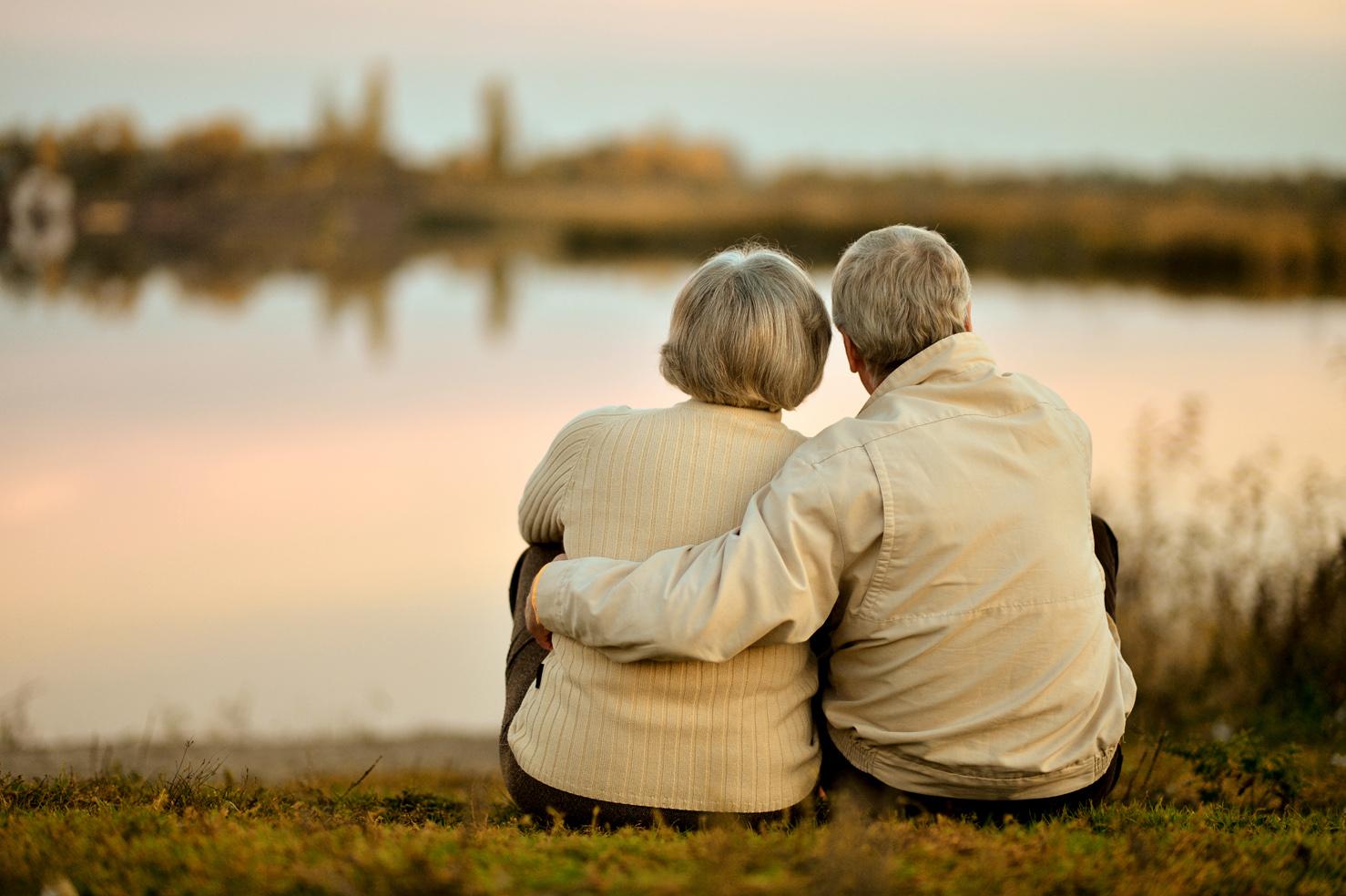 elderly couple lake smaller